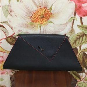 Susu Angelica Black/Red Leather Clutch